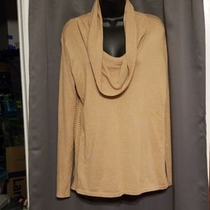 Roz & Ali cowl neck sweater size L